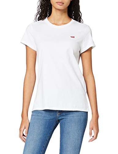 Levi's The Perfect Tee, T-shirt Donna, Bianco (White Cn 0006), Medium