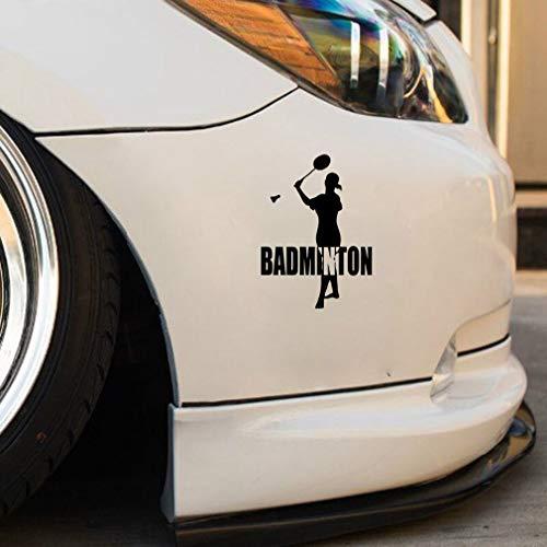 auto aufkleber auto aufkleber 12,5x17,4 cm Fitness Sport Badminton Dekor Auto Aufkleber Silhouette für Auto Laptop Fenster Aufkleber