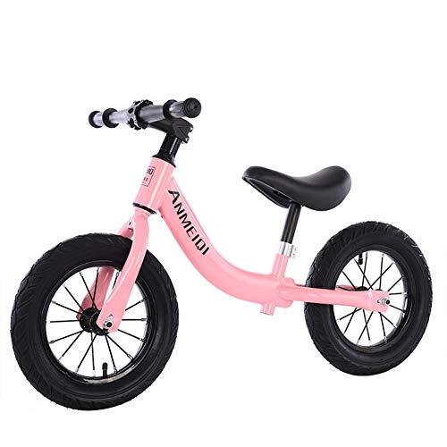 Kids Balance Bike, No Pedal Toddler Bike with Carbon Steel Frame Adjustable Handlebar and Seat Toddler Walking Bicycle,Best Gifts,Pink