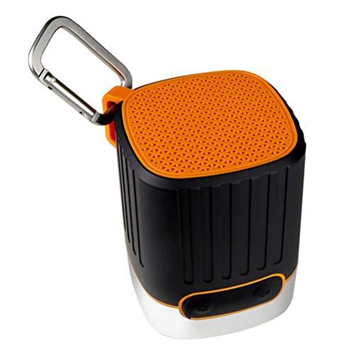 QAR Drahtloser Bluetooth Lautsprecher Bluetooth Audio Home Nachtlicht SOS Flash Outdoor tragbare Mobile drahtlose Subwoofer Mini-Lautsprecher LED-Licht Audio (Color : Orange)