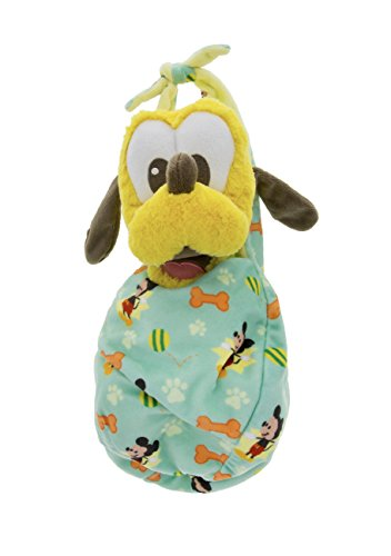 Disney Parks Baby Pluto Dog in a Pouch Blanket Plush Doll