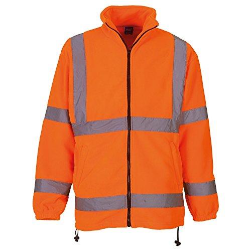 YOKO - Veste Polaire Haute visibilité - Homme (M) (Orange)