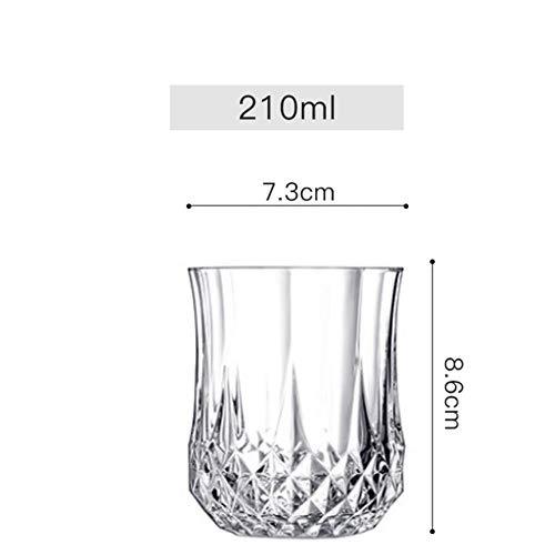 Ltong 6 stuks set whisky wijnglas bier sap kristal beker whisky brandewijn wodka glazen 11 keuzes transparante bar club keuken decor, blauw, 6 stuks