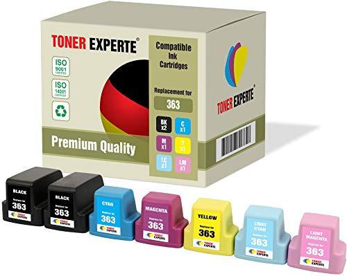 7 XL TONER EXPERTE® Druckerpatronen kompatibel für HP 363 Photosmart C5180, C6150, C6180, C6280, C7180, C7280, C8180, 3110, 3210, 3310, 8250, D6160, D7160, D7260, D7460, 3210xi