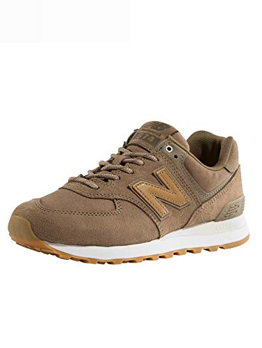 New Balance Damen WL574-CLM-B Sneaker, Braun (Braun Braun), 36 EU