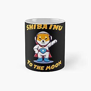 Shiba Inu To The Moon - Shibarmy Classic Mug 11 Ounce For Coffee, Tea, Chocolate Or Latte.