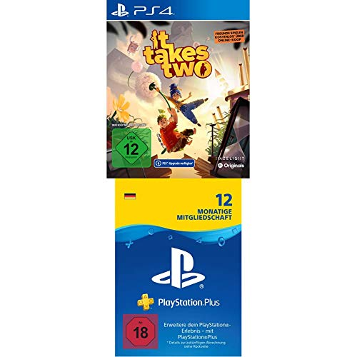 IT TAKES TWO - (inkl. kostenloser PS5 Version) - [Playstation 4] + PlayStation Plus Mitgliedschaft | 12 Monate | deutsches Konto | PS5/PS4/PS3 Download Code