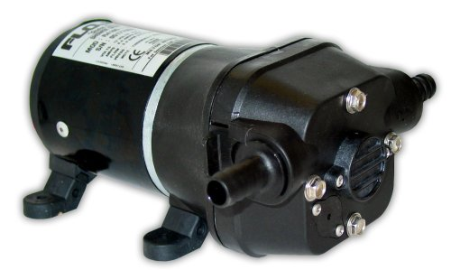 FloJet 04105143A Marine Freshwater Shower Drain Pump (3.3-GPM, 12-Volt, 6-Amp), White