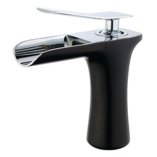 Kingston Brass LS8427QLL Executive Lavatory Faucet, Matte Black/Polished Chrome
