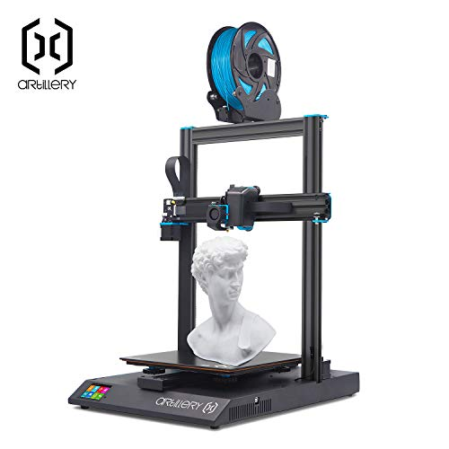 Artillery Sidewinder X1 3D Printer, 2019 Newest Model Ultra-quiet Lattice Glass Heat Bed Aluminum Extrusion Frame & Filament Runout Sensor & Power Failure Recovery 3D Printering, 300x300x400cm