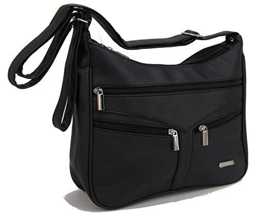 STEFANO Damen Umhängetasche Schultertasche Frauen Handtasche soft PU verschiedene Modelle