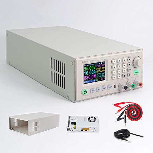 Riden RD6018 - Alimentatore DC variabile regolabile da banco da laboratorio convertitore Buck Step Down Commutazione Regolato Display LCD 4-Digitale 60V 12-18A 800W
