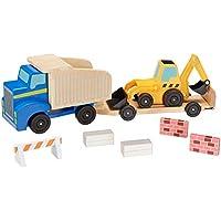 Melissa & Doug Classic Toy Dump Truck & Loader