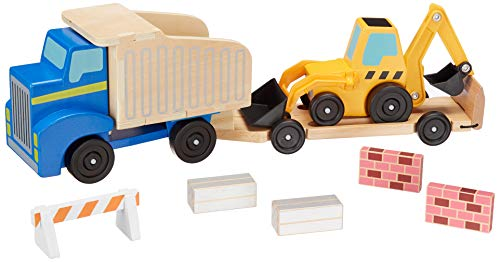 Melissa & Doug Classic Toy Dump Truck & Loader Wooden Play Set  $16 at Amazon