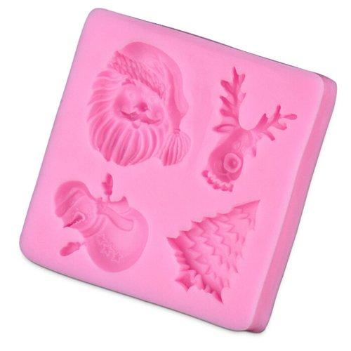 YOKIRIN Stampi in Silicone Formi di Babbo Natale Accessorio per la Decorazione Della Torta del Fondente di Cioccolato Stampo Zucchero Torte Stampi Sapone
