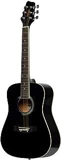 Stagg 6 String Acoustic Guitar, Left (SA20D 3/4 LH-BK)