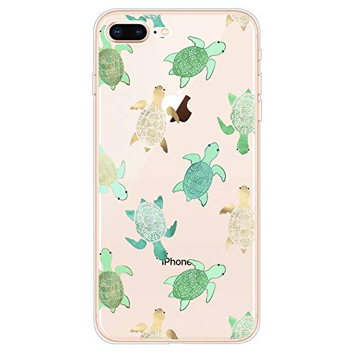 iPhone 5s Case, iPhone Se Case, Slim Transparent Silicone TPU Protective Cover for 4.0' iPhone 5s/iPhone SE/iPhone 5 Ultra Thin Flexible Soft Gel Back Skin Cute Lovely Turquoise Sea Turtle