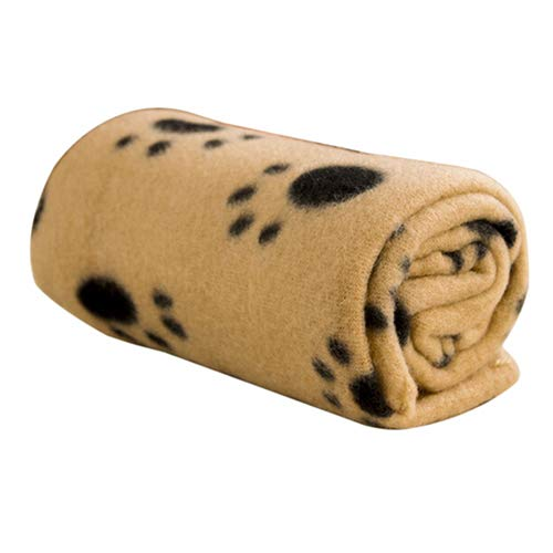 starlit Winter Warm Paw Print Fleece Throw Blanket Pet Dog Bed Sleeping Mat Bed Cushion Blanket Cover 2