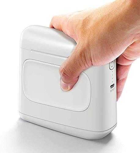 Selpic S1 Tragbarer Drucker mit Schnell Trockener Wasserdichter Tinte, Kabelloser und Mobiler Tintenstrahldrucker auf Holz, Glas, Kleidung für Text, Barcode, QR Code, Bild
