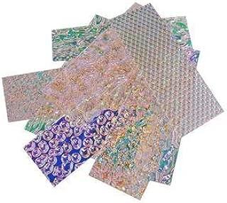 1 Oz. Wissmach Wafer Thin Dichroic Texture Scrap on Clear - 96 Coe