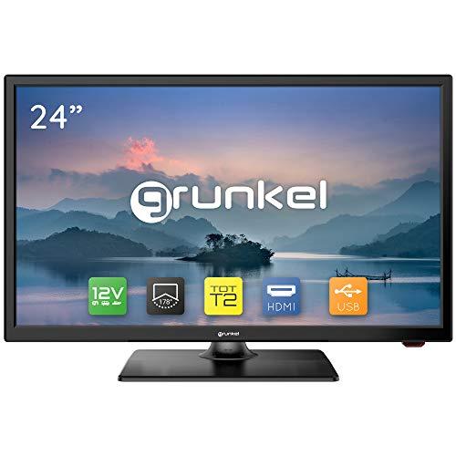 Televisor Grunkel - LED-24 IV2 - Televisor LED HD Ready Alta definición. Fabricado en España - 24 Pulgadas - Negro
