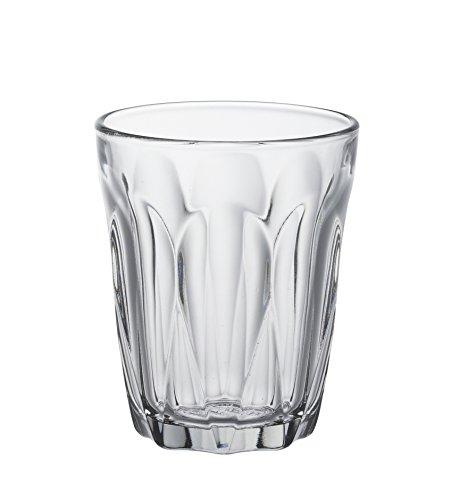 Duralex 1036AB06C0111 Provence Trinkglas, Wasserglas, Saftglas, 90ml, Glas, transparent, 6 Stück