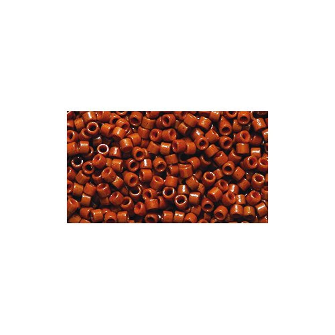 Miyuki Delica Seed Bead 11/0 DB2109, Duracoat Opaque Sienna, 9-Gram/Pack