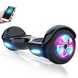 M MEGAWHEELS Hoverboard Autobilanciato Scooter Elettrico, 6,5 Pollici Overboard con Bluetooth e Lampeggiante LED,per Adulti e Bambini,Giocattolo e Regalo (Nero1)
