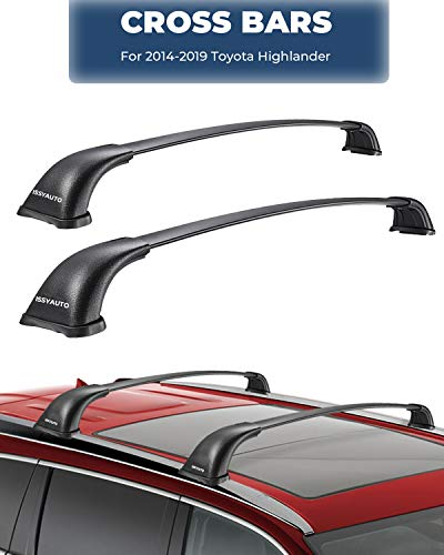 ISSYAUTO Roof Racks Cross Bars for 2014-2019 Toyota Highlander Roof Cross Bars, Fits XLE, Limited and SE Only