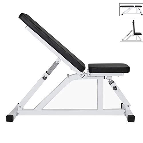 HAOYF Hantelbank für den Haushalt, Fitnessgerät für den Innenbereich, Bauchtrainingsgerät, verstellbare Fitness-Stuhl, Sit-Ups Hilfsausrüstung (Farbe: Schwarz, Größe: 110 x 40 x 47 cm)