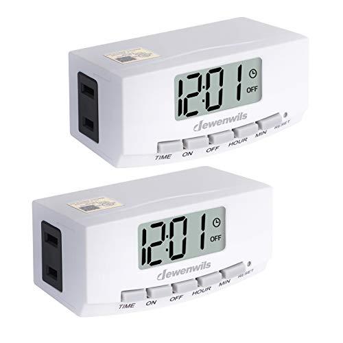 DEWENWILS 2 Pack Indoor Outlet Lamp Timer Plug in, Digital Programmable Timer...