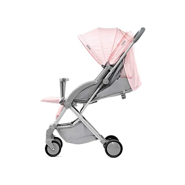 Kinderkraft Pilot Light Buggy Pushchair Pushchair Pushchair Folding kk KinderKraft An innovative folding system, with a shoulder strap for easy transport The set contains: Modern barrier, shopping basket under the seat, foot protection, rain cover and cup holder. High quality stored, rubber wheels - all muffled. 3