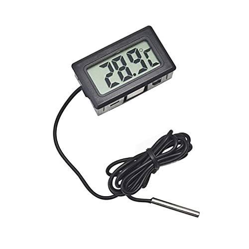 Sensore Temperatura LCD Termometro Temperatura Frigorifero Termometro per Acquario Display Digitale Termometro Forte Intervallo di Temperatura anti Interferenza -50~110°C (Nero)