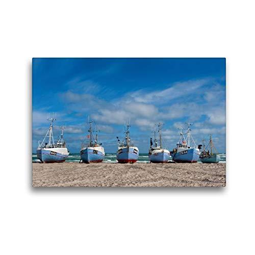 Calvendo Premium Textil-Leinwand 45 cm x 30 cm quer, EIN Motiv aus dem Kalender Dänemarks Westküste   Wandbild, Bild auf Keilrahmen, Fertigbild auf echter Leinwand, Leinwanddruck Natur Natur