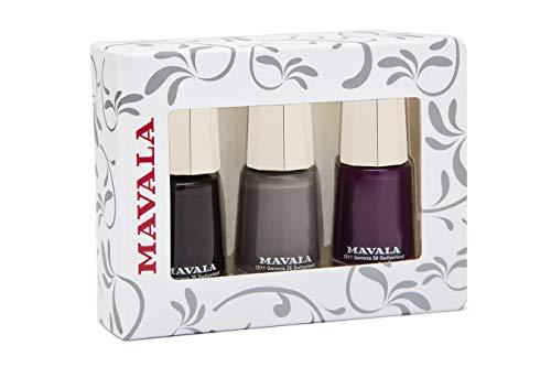 Home Mavala Nagellack, Deep Cherry Nude, Violett, 3-teiliges Set
