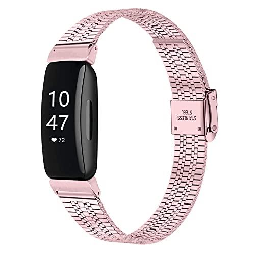 TopTen Correa de reloj compatible con Fitbit Inspire/Inspire HR/Inspire 2, pulsera ajustable de acero inoxidable, accesorios de repuesto, For Fitbit Inspire/Inspire HR, Silicona,