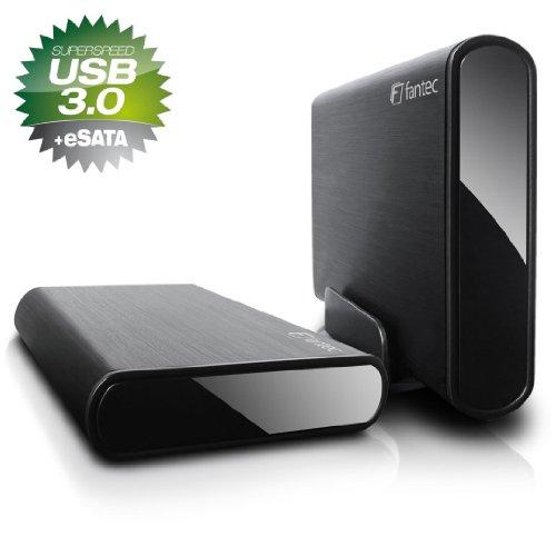 Fantec DB-ALU3e 2TB externe Festplatte (8,9 cm (3,5 Zoll) eSATA, USB 3.0) schwarz