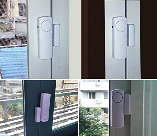 Personal Security Window & Door Alarm Bell   Wireless Sensor Door Window Burglar Alarm   Pack of 10