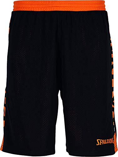 Spalding Mens 300502506_XXXXL Shorts, Black,orange