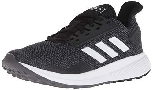 adidas Women's Duramo 9 Running Shoe, Black/White/Grey, 9.5 M US