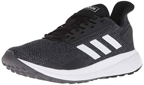 adidas Women's Duramo 9 Running Shoe, Black/White/Grey, 8.5 M US