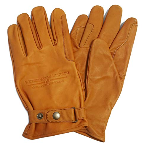 Westernwear Westernhandschuhe & Reithandschuhe Nappaleder Unisex Westernhandschuhe Reitsporthandschuhe Lederhandschuhe Cowboy Leather Gloves Outdoor Braun (M)