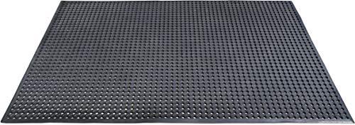 ID MAT CAILLEBOTIS CAOUTCHOUC Tapis, Matériel Synthétique, Noir, 90x150x1 cm