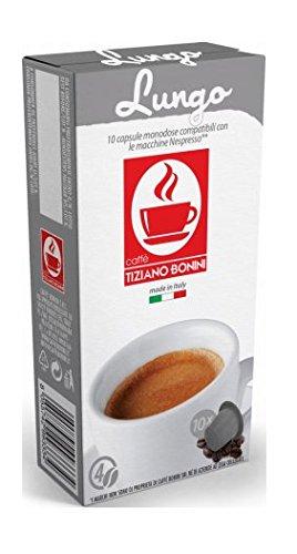 Lungo Kaffee - 10 Stück Kompatible Kaffeekapseln von Caffè Bonini Italien. Kompatibel für Nespresso* Maschinen