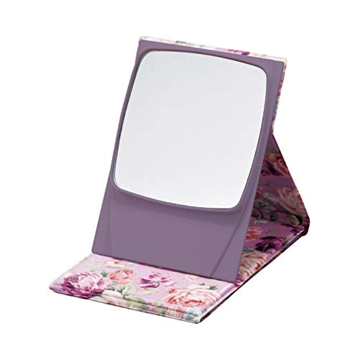 グラス下足5倍拡大鏡プロモデルナピュアミラー ローズピンク 【花柄 鏡 拡大鏡付き メイク 美容 おしゃれ 化粧 コンパクト】