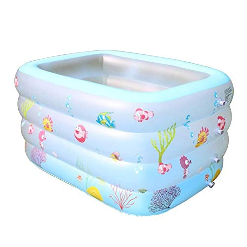 precauti Opblaasbaar zwembad, kinderzwembad, opblaasbaar zwembad, dubbele bubbelbodem, verdikking Slijtvaste opblaasbaar zwembad Babyzwememmer