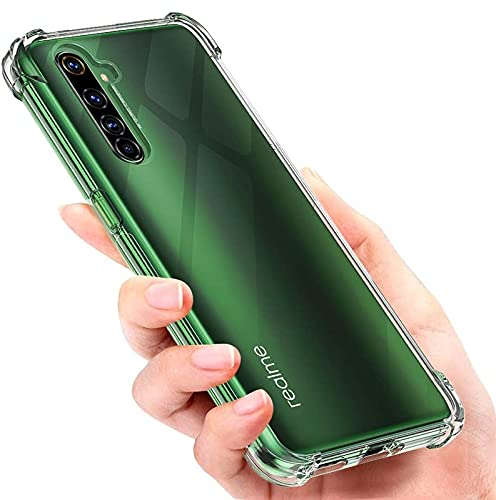 ConnectPoint Rubber Shockproof Edge to Edge Camera Protection Bumper Transparent Back Cover for Realme X50 Pro 5G