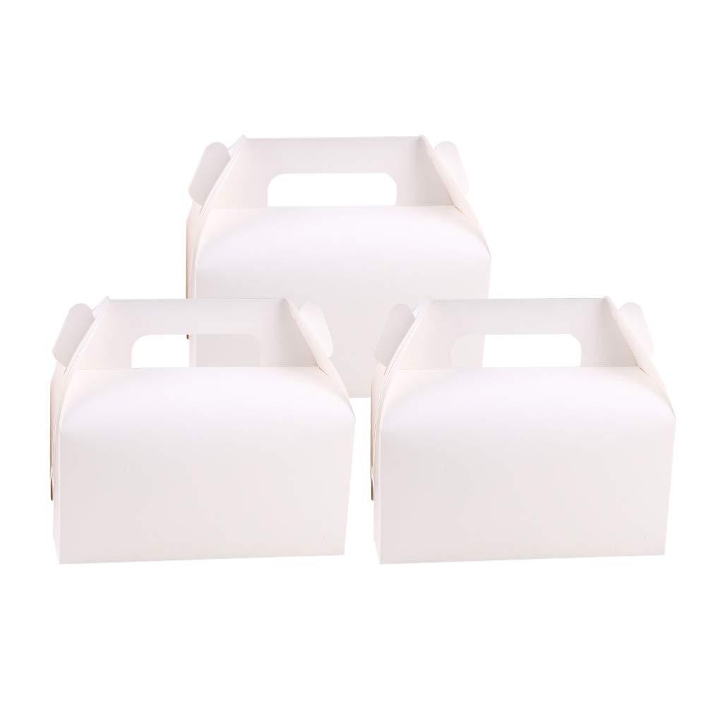 Toyvian cajas de dulces de papel blanco 24 piezas de galletas tratan cajas de cartón con