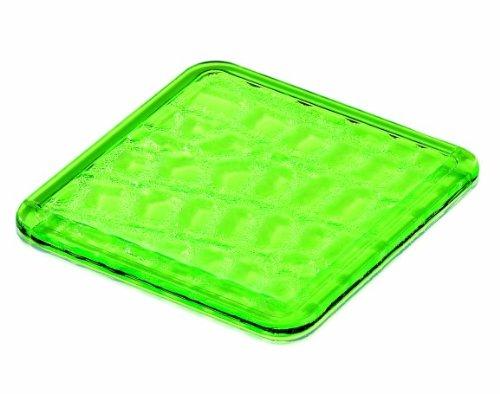 Guzzini 24920044 - Set di 6 sottobicchieri in Verde Acido, 0,4 x 9 x 9 cm