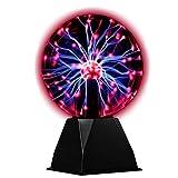 hivoltage Bola de plasma – Flash mágico en una bola de cristal – 20 cm de diámetro – 3500 lúmenes